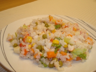 Ensalada de arroz recetas de cocina en kukers - Ensalada de arroz light ...
