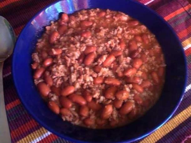 Judias pintas con carne picada y arroz recetas de cocina - Judias pintas con arroz olla express ...