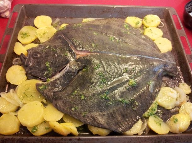 Cocinar Rodaballo Al Horno   Rodaballo Al Horno Con Patatas Recetas De Cocina En Kukers