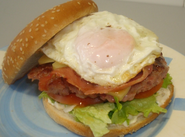 Hamburguesa completa fepe recetas uy - Plancha para hamburguesas ...