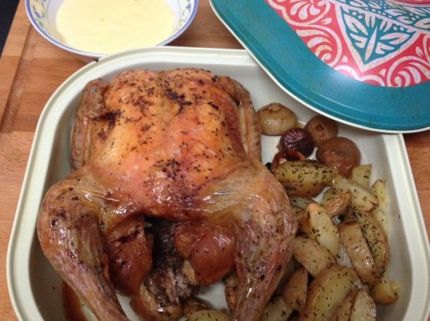 Pollo al horno con patatas y alioli recetas de cocina en - Pollo al horno con limon y patatas ...
