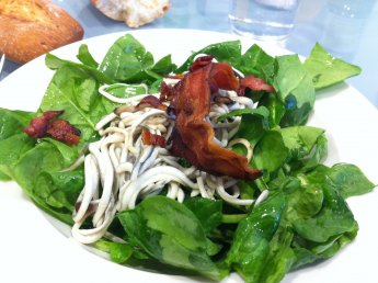 Recetas De Cocina Con Espinacas | Ensalada De Espinaca Con Gulas Y Bacon Recetas De Cocina En Kukers