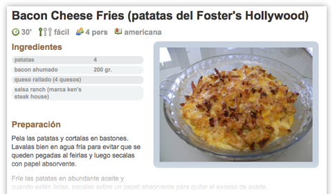 Bacon Cheese Fries - Patatas del Foster's